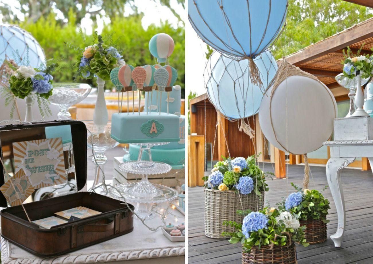 Vintage hot air balloon island de plan v de plan v for Decoration original