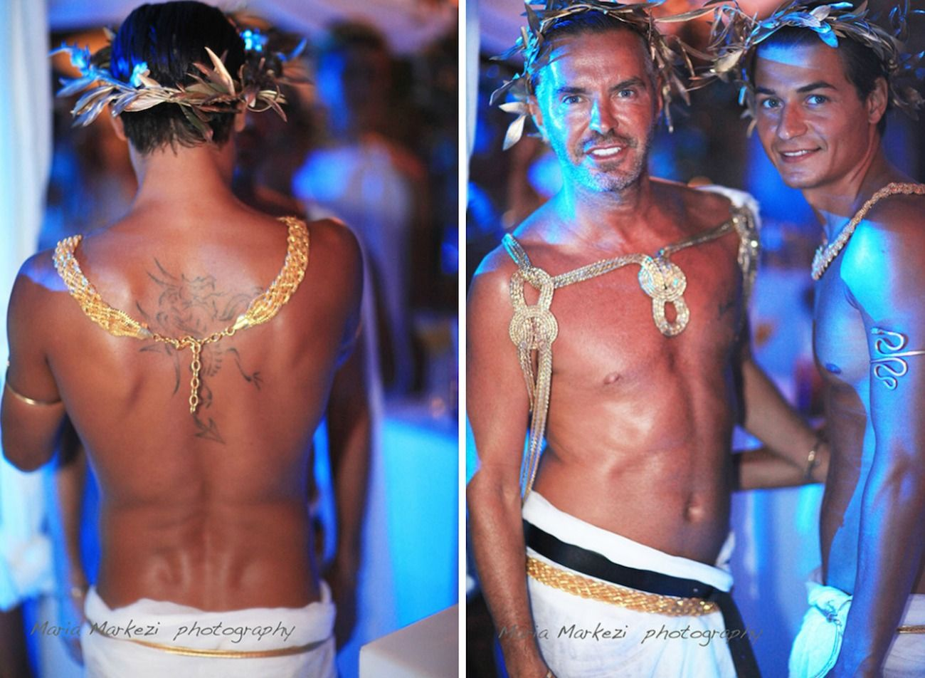 dsquared2 party mykonos