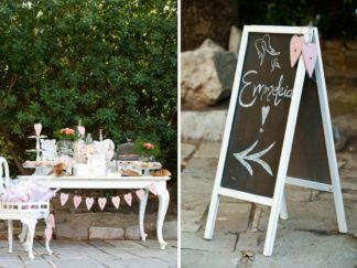pink fairytale christening event