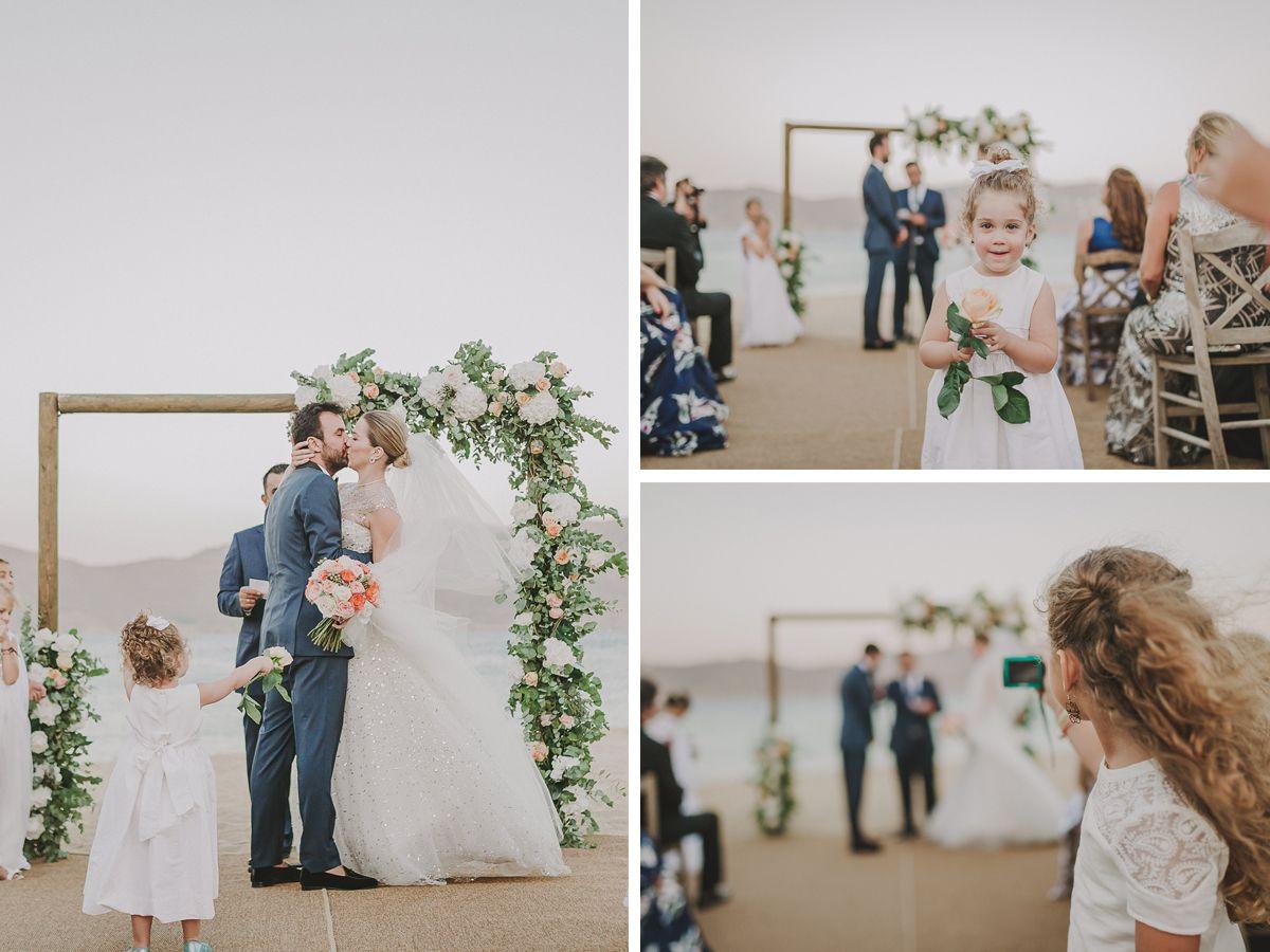 Vintage Beach Wedding Ceremony: VINTAGE BEACH WEDDING @ MYKONOS GREECE - De Plan V